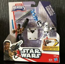 Star Wars Galaxy Heroes Double Figure Toy Set Finn Jakku Stormtrooper Hasbro NEW