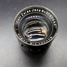 Carl Zeiss Jena Sonnar  50mm F2  Rangefinder leica lens block with aperture
