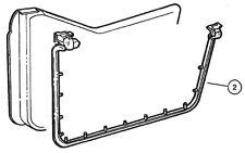 Jeep Door Seal: Half Door Weatherseal Fits 1997-2006 TJ Wrangler 5017010AB RIGHT