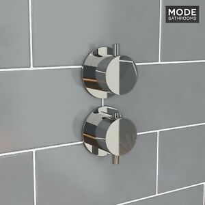 [30% OFF] Mode Hardy round twin thermostatic shower valve