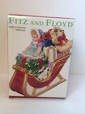 Fitz and Floyd Teddy's Christmas Lidded Box 2003 Nib