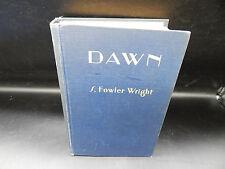 S Fowler Wright DAWN vintage hardcover book 1929 Cosmopolitan 1st edition sci-fi