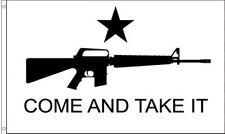 3x5 Texas Come and Take It M4 AR15 Machine Gun Flag 3'x5' Banner grommets