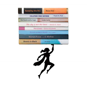 "Artori Design | ""Wondershelf Black Metal Female Superwoman Floating Bookshelf |"