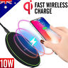 10W Qi Fast Wireless Charger Charging Receiver Apple iPhone X XS Max XR 8 8 Plus