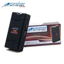 Stun Gun Monster 18 Mil  Rechargeable Stun Gun w/ LED Light &  Warranty - black