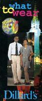Super Rare 1996 Disney World Ephemera - Grad Nite 96 What To Wear Fold Out Guide