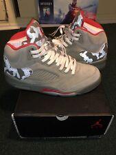 fdef19258c2286 Nike Air Jordan 5 Retro P51 Men s Size 9.5 Camo Camouflage Dark Stucco Worn  1x