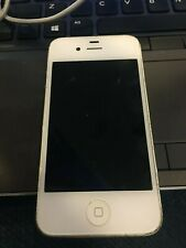 Apple iPhone 4s - 16GB - White  A1387 (CDMA + GSM) (CA) - DEAD - CRACKED
