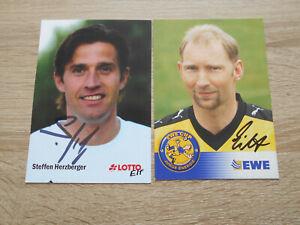2 Autogrammkarten Stuttgarter Kickers Mainz Bremen DFB