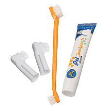 For Pet Dog Cat vanilla Flavour Toothpaste + Pet Toothbrush + Back Up Brush Set