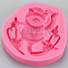 Winter Ski Raccoon Animal Silicone Mould Xmas Christmas Silicone Mould Mold
