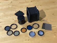New listing Hasselblad Accessories Lot Proshade 6093t, Bay 50 Filters, Dark Slide, 50776