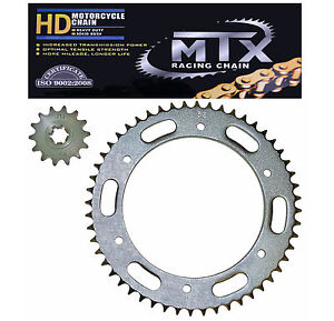 Hyosung GT125 GT125R chain & sprocket kit (03-15) MTX h/duty GOLD chain upgrade