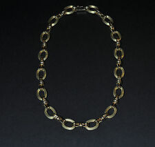 Gregg Ruth GGR 18k Yellow Gold Chunky Oval Link Chain Necklace