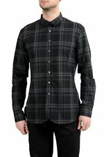 John Varvatos Multi-Color Checkered Long Sleeve Men's Casual Shirt US M IT 50