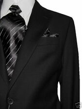 MANTONI 2B MEN'S 100% WOOL SUIT SOLID CHARCOAL 36S 36 S FREE FAST SHIP & TIE SET