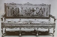 17th Century Louis XIV French Sofa, Magic Lantern Glass Photo Slide