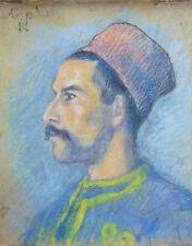 Orientalisme tirailleur algérien 1914 soldat armée Afrique framed impressionnist