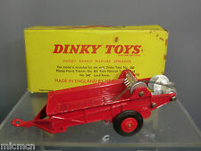 "DINKY TOYS MODEL  No.321 ""MASSEY-HARRIS MANURE SPREADER   ""RARE RED WHEELS"" MIB"