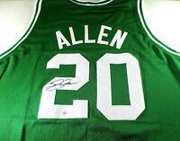 RAY ALLEN / NBA HALL OF FAME / AUTOGRAPHED BOSTON CELTICS CUSTOM JERSEY / COA