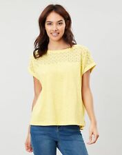 Joules Womens Cassi Grown On Sleeve Jersey Top Shirt - YELLOW