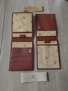 2 x Luxus Karten Etui TeBe Treuleben & Bischof Echt Leder für Ec-Ausweis Kfz usw