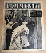 SETTIMANALE ILLUSTRATO PER TUTTI   COMMENTO  N°  28 1947  ORIGINALE !!!