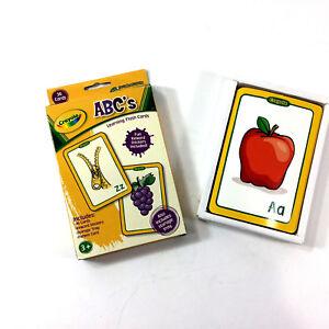 Crayola ABCs Flashcards Preschool Learning Game Reward Stickers