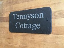 Natural Slate House Door Sign 40cm x 15cm Any Name Any Number Any Message