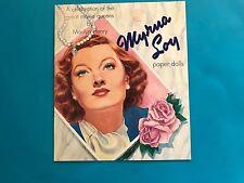 Myrna Loy Uncut Booklet 1995 Paper Dolls