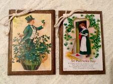 5 Handcrafted Wooden St. Patrick's Day Ornaments/Irish Hang Tags/GiftTags Set17
