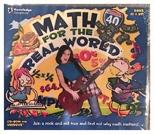 Math for the Real World (PC) BRAND NEW SEALED -FREE U.S. SHIP -NICE -WIN10, 8, 7