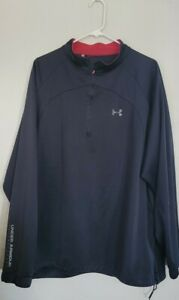 Under Armour Golf Wear 1/4  Zip Long Sleeve Mens pullover sz 2xl Black