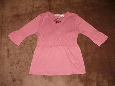 Unifarbene 3/4 Arm Damen-T-Shirts aus Baumwollmischung
