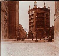 Parma Battistero Italia Foto Stereo PL59L16n Placca Da Lente Vintage c1900