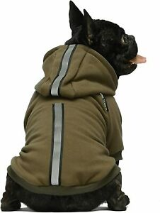 Fitwarm Thermal Dog Coat with Safety Reflective Stripe Pet Hoodie Outfits Jacket