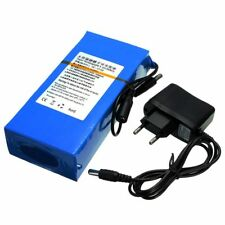 12V 15000mAh Rechargeable Li-ion Battery Pack Charger With EU Plug Protable