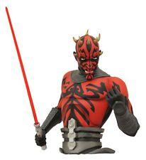 Diamond Select Star Wars The Clone Wars Darth Maul Bust Bank NEW