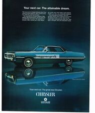1969 Chrysler Newport Custom 4-Door Hardtop Automobile Car Vtg Print Ad