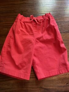 6- 7 Hanna Andersson Boy Easy Woven Canvas Red Pull On Shorts 120 cm NWOT