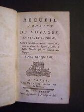 (1784) Recueil Amusant de Voyages (en vers et en prose) Tome 5 / éd. Nyon - 1784