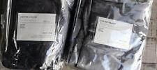 New West Elm Set 2 Luster Cotton Velvet Curtains 48x96 Pewter Gray Platinum 4avb