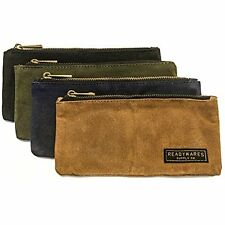 Waxed Canvas Pencil Case Pouch (Set Of 4)