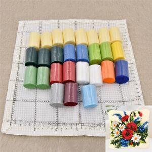 Creative Floral Latch Hook Kits Pillowcase Embroidery DIY Crochet Handmade Craft