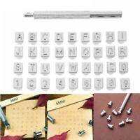 36x Stamps Letter Alphabet Numbers Set Punch Steel Metal Leather Tool 3/6mm Kit