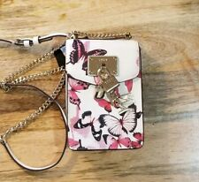 NEW DKNY Elissa Butterfly Pebble Leather Charm Crossbody Purse