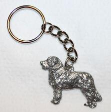 LEONBERGER Dog Fine Pewter Keychain Key Chain Ring Fob