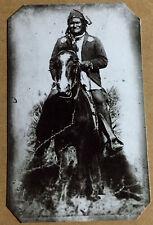 Rare tintype of Geronimo on horse tintype C1045RP
