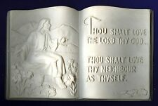 Thou Shall love the Lord.. Plaque plaster of Paris painting project. Set of 1!